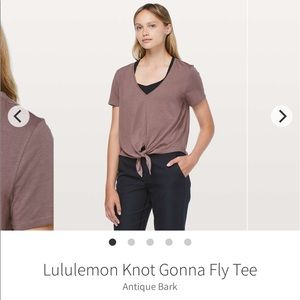 Lululemon Knot Gonna Fly Tee size 6 no tag